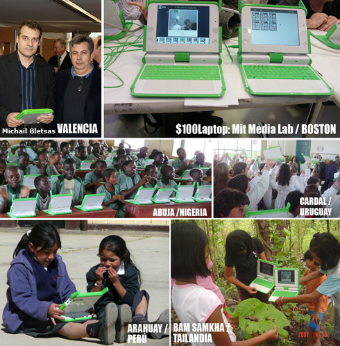 $100Laptop en países en desarrollo de Asia, África y América