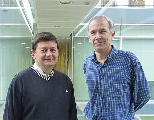 Jaime Gómez y James Butler en la CPI-UPV